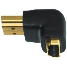 Wireworld HDMI Male to Female right angle adapteris